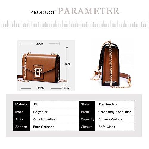 Yoome Alley Stile Elegante Flap Bag Per Catene Incontri Borse Vintage Per Donne Borse Bambino Borse - Caffè Marrone