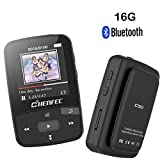 MP3-Player Bluetooth Clip MP316GB mit Sports Musik Player Shuffle Wiedergabe unterstützt Speicher bis zu 64GB schwarz