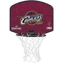 Spalding NBA Cleveland Mini canasta de baloncesto, Unisex niños, Rojo / Amarillo, Única