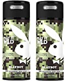 Playboy Play It Wild Deo Body Spray Mann, 2er Pack (2 x 150 ml)