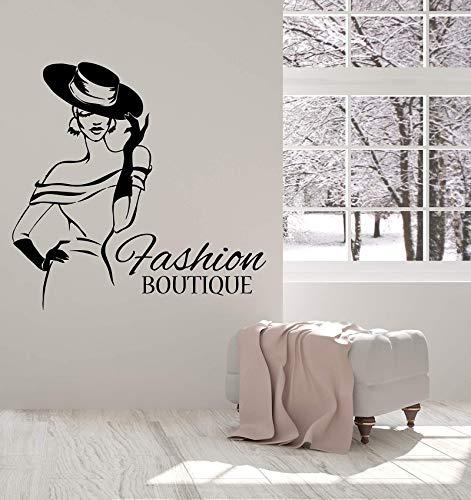 ONETOTOP Vinylwandapplikationsart und weiseboutique-Hutgeschäft Elegante Damenaufkleber 43 * 42cm