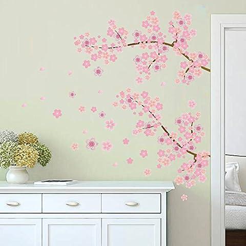 Autocollant muraux Autocollant mural en papier Décoration intérieure Décoration murale de bureau Chambre à prunes