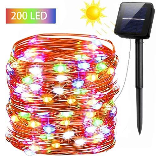 FSTgo Luces solares hadas Exterior Impermeable 200