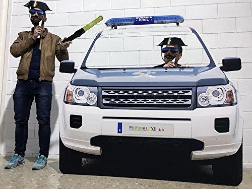 Photocall Boda Coche Guardia Civil | Policia | Eventos Celebraciones | Medidas 155x148cm | Ventana Troquelada | Photocall Divertido