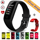 Fitness Trackers (New Design) Smart Bracelet, 0.96inch OLED Colorful Display Activity Tracker Watches