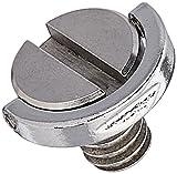 Yosoo Dreibeinstativ für Digitalkameras, Schnellwechselplatte, D-Ring, 0,6 cm, D-Ring, Edelstahl, Schraub-Adapter, UNC für Kamerastativ, Einbeinstativ, Schnellwechselplatte (Typ 1)