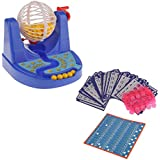 Mini Juego de Mesa Máquina de Chip Tarjeta Bingo Bola Familia Fiesta Niños