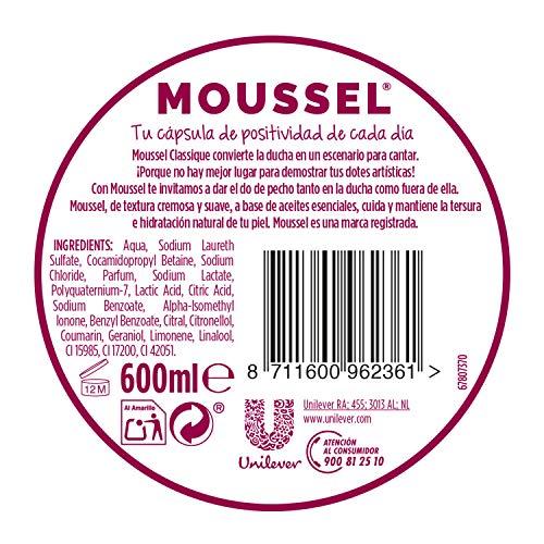 Moussel Gel Líquido Classique con Aceites Esenciales Naturales -  Paquete de 8 Gel Líquido de 600 ml -  Total: 4800 ml