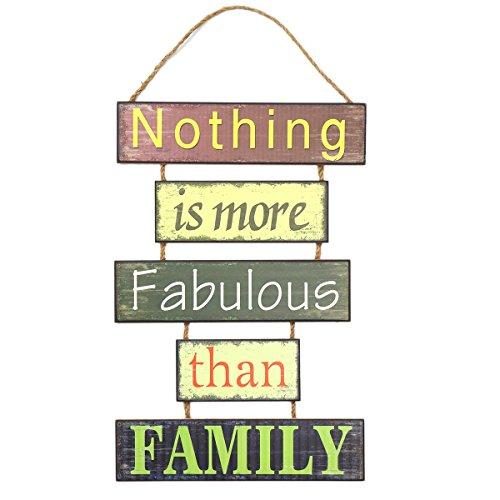 Vosarea Wohnkultur Schild mit Spruch Familie Sammeln Indoor Outdoor Holz Dekorative hängende Plaque ()