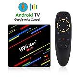 TV box android,TV e Home Cinema, H96 Max + Android 8.1 Smart TV Box RK3328 Quad-Core 64 bit Cortex-A53 4 GB 32 GB Penta-Core Mali-450 fino a 750Mhz + Full HD / H.265 / Dual WiFi Smart TV Box Supporto Controllo vocale Regolamenti europei