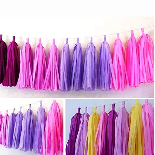 5pcs Bag Multicolor Paper Tassels Ribbon Garlands Party Events Wedding Birthday Decorations Props - Streamers Banners Streamers Confetti Paper Garland Zilue Chocolate ()