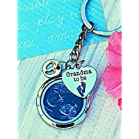 Grandma to Be Gift Locket Keychain - New baby announcement gift ultrasound photo new grandma gift for grandmother or nana with GIFT BOX