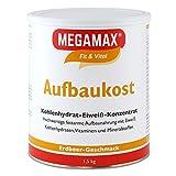 MEGAMAX Aufbaukost Erdbeere 1.5 kg | Ideal zur Kräftigung und bei Untergewicht | Proteinpulver zur...