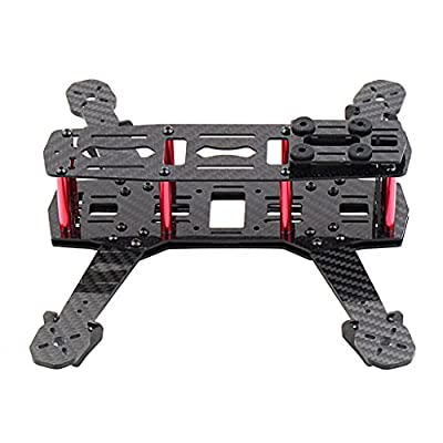 TOOGOO(R) 250mm Mini Multicopter Quadcopter Racing Drone Glassy Carbon Frame Kit FPV QAV