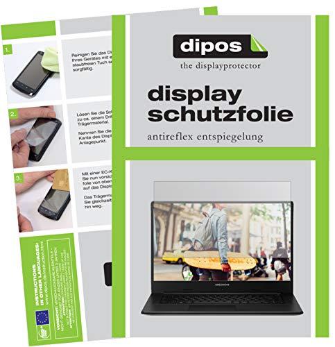dipos I 2X Schutzfolie matt passend für Medion Akoya E6246 Notebook Folie Displayschutzfolie
