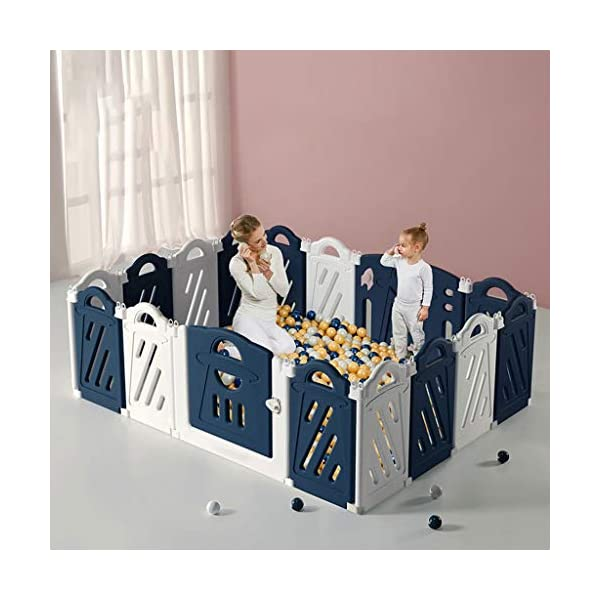 Baby Playpen HUYP Baby Fence Indoor Foldable Boy Girl Cartoon Safety 6 Months Or More (Size : 8 small pieces) Baby Playpen  4