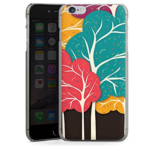 Apple iPhone 6 Plus Silikon Hülle Case Schutzhülle Wald Natur Muster Hard Case anthrazit-klar