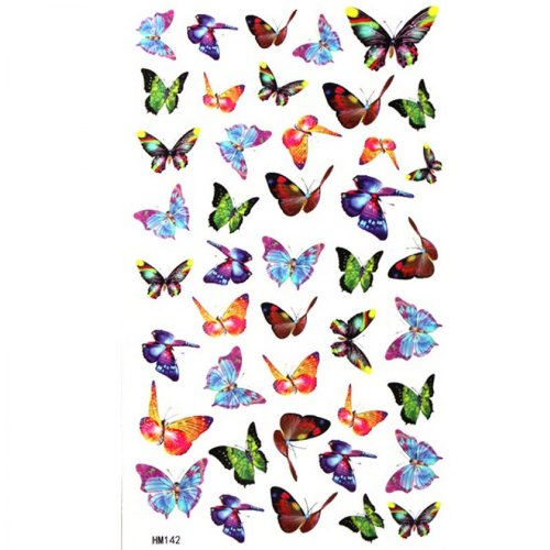 Petit papillon faux tatouages étanche sexy glamour