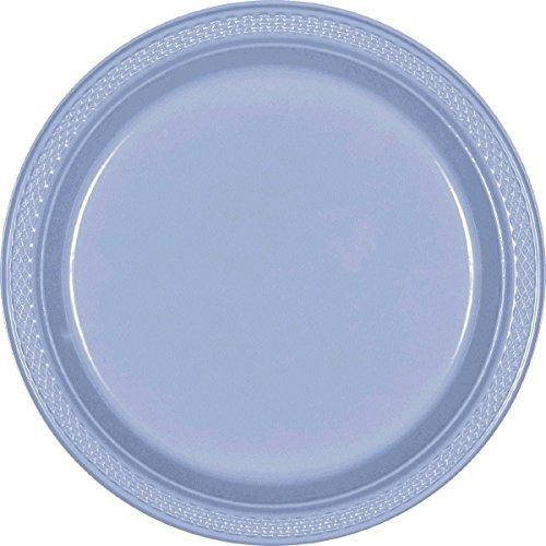 amscan Teller aus Kunststoff, 23 cm, Pastell-blau -