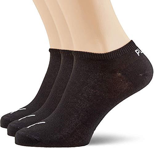 Puma invisible, calzini sport uomo, nero, 39/42 , confezione da 3