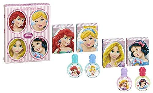 DISNEY Princesses – Coffret cadeau 4 Miniatures Parfum enfant – 7 ml