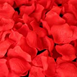 SAVFY 500 Pcs / Set Beautiful Silk Rose Petal for Wedding Party Decorations Flower Favors, Multiple Color for Choice