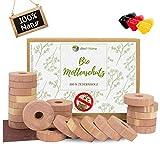 viiteo®-Home Premium 24er Set Mottenschutz aus 100% natürlichem Zedernholz Mottenringe für den Kleiderschrank ♻️ chemiefreie Mottenfalle & erstklassige Mottenabwehr mit Bio Langzeitwirkung