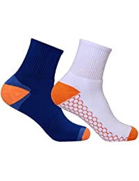 Men's PO2 Ankle Combed Cotton Terry Sports Socks