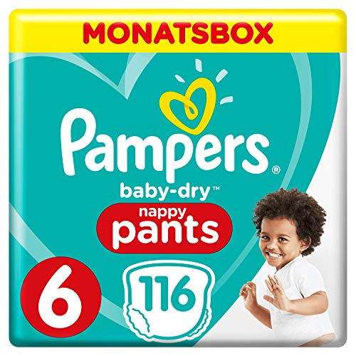 Pampers Baby-Dry Pants, Gr. 6, 15+kg, Monatsbox, 1er Pack (1 x 116 Windeln)