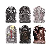 Amosfun Halloween Foam Tombstone RIP Lapidi Horror Scene Scene Layout Tombstone Halloween Decorazione Forniture (Stile Casuale)