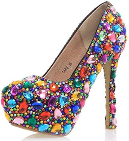 Kitzen Las Mujeres De Color Rhinestones Corte Zapatos Damas DiseñAdor De La Boda De Novia De TacóN Alto Zapatos...