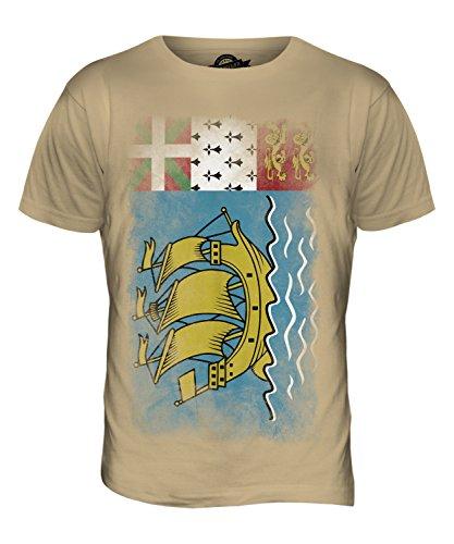 CandyMix Saint-Pierre Und Miquelon Verblichen Flagge Herren T Shirt Sand