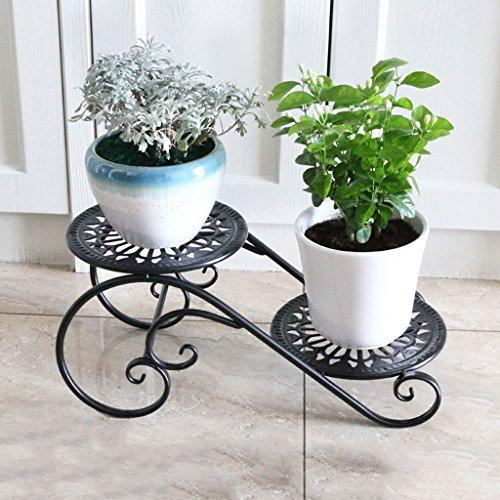 PLL Fer Art Fleur Étagère Multi-Couche D'intérieur Espace Saving Balcon Décoration Salon Fleur Pot Rack