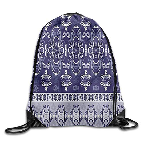 Etryrt Mochilas/Bolsas de Gimnasia,Bolsas de Cuerdas, Indian Like Floral Horizontal Design Drawstring...