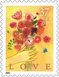 Feelingathome.it, STAMPA SU TELA 100% cotone INTELAIATA Amore Bouquet cm 66x51 (dimensioni personalizzabili a richiesta)