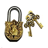 Purpledip Handmade Brass Antique Lock wi...
