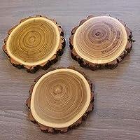 3 placas de madera de acacia con diseño de jabalí, 14,5 cm