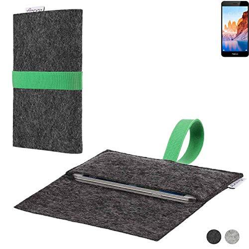 flat.design Handy Hülle Aveiro für TP-LINK Neffos C7A passgenaue Filz Tasche Case Sleeve Made in Germany