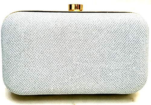Tooba Women's Clutch(Silver Foam 7X4, Silver)