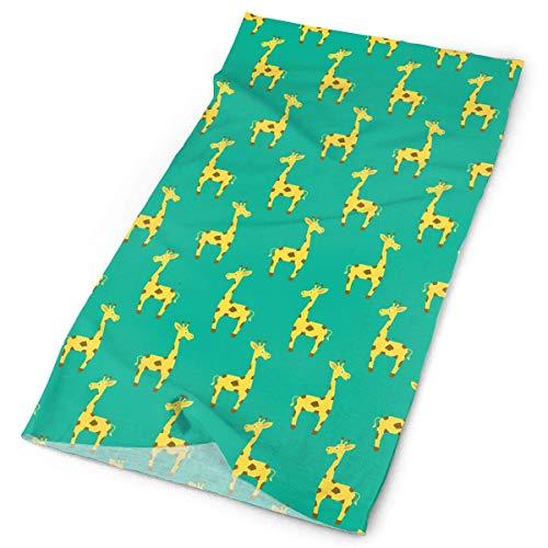 Pizeok Cute Little Giraffes Men Women Face Mask Neck Gaiter Sun Shade Shield Bandanas Headwear Wide Headbands Scarf Head Wrap New18
