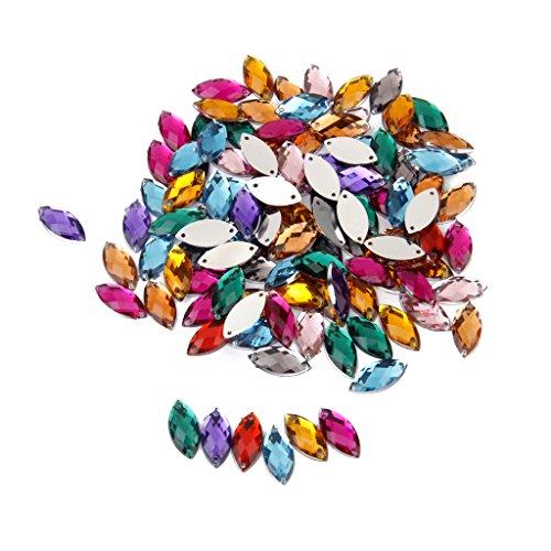 100pcs Multicolores Adornos Accesorios de Cristal Artificial para Deco