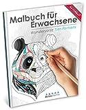 Malbuch für Erwachsene: Wundervolle Tierportraits (Kleestern®, A4 Format, 40+ Motive) (A4 Malbuch für Erwachsene)