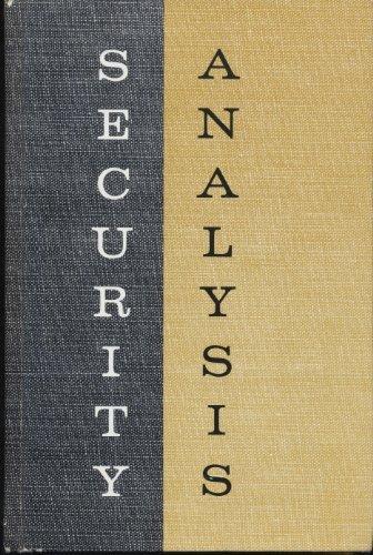 SECURITY ANALYSIS by Benjamin Graham (1962-08-01)