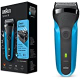 Braun 310s Series 3 Rechargeable Wet And Dry Electric Shaver (Blue)