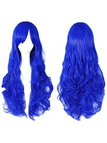 Sexy Lockige Perücken hitzebeständige synthetische Faser Haar für Karneval Halloween Party (Rote Kostüm Halloween Haare)
