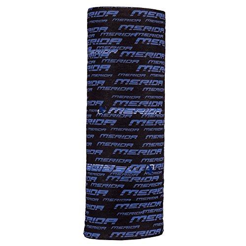 Autofy Unisex Merida Print Lycra Headwrap for Bikes (Blue and Black, Free Size)