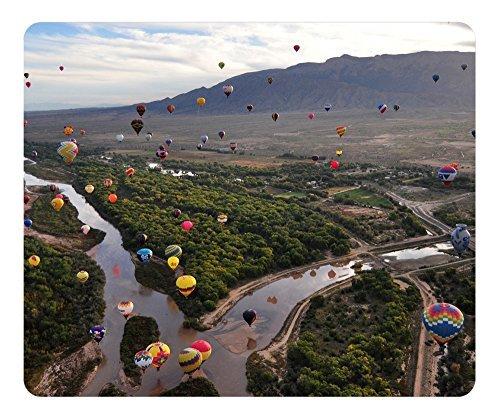 Gaming Maus Pad Oblong Geformte Ballon Fiesta AT THE Rio Grande in Albuquerque Mauspad Design Natural Eco Gummi Robuste Computer-Schreibtisch Stationery Zubehör Maus Pads für Geschenk Unterstützung Wired Kabellos oder Bluetooth-Maus