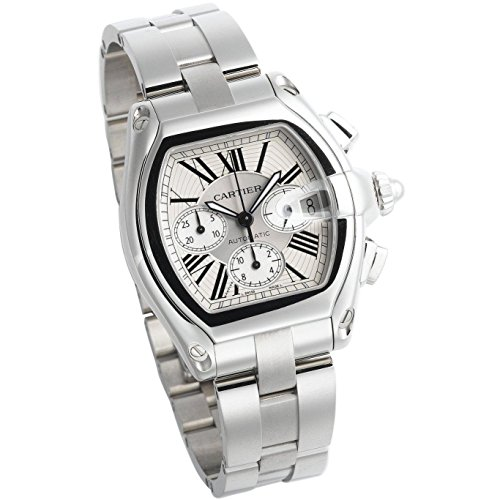 CARTIER MEN'S STEEL BRACELET & CASE AUTOMATIC SILVER-TONE DIAL WATCH W62019X6