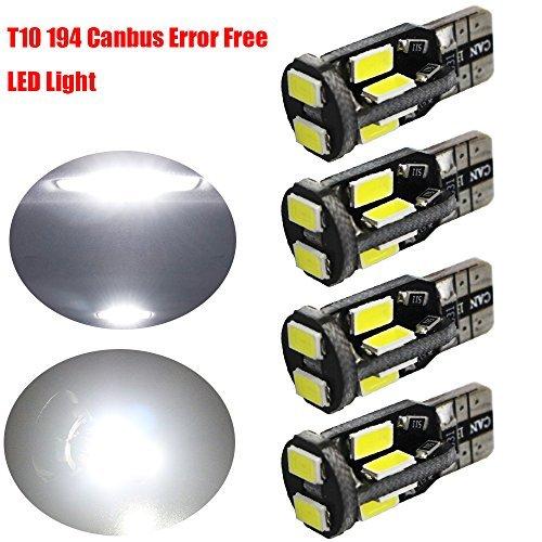 4-Pack T10 194 168 W5W 168 2825 Blanc CANBUS Sans Erreur 12V Lumière LED, 10SMD 2835 de Voiture Ampoule de Rechange pour Carte Dôme Courtois Side Marker Lumière de Plaque D'immatriculation