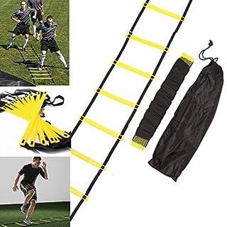Arteki Outdoor Fitness Equipment Durable 10 Rung 15 Feet 5M Agility Ladder for Speed Soccer Football Fitness Feet Training with Bag